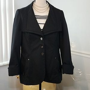 Worth Wide lapel black trench style jacket 14